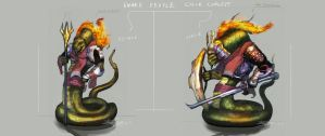 Snake People Color Concept by Brollonks