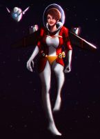 X249 space girl ? robot/droid? by Alexander--Art