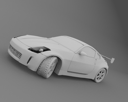 Nissan350z Fairlady ClayRender by Kelo821