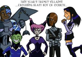 Titans Halloween by Raving-Lunatic