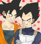 goku and vegeta by machikado8