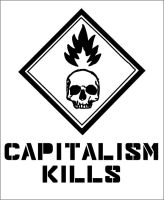 Capitalism kills - stencil by 13VAK