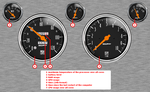 Mustang Gauges Laptop by 1967MustangFastback