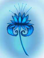 Blue dragonflower by Sferath