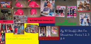 My 1D Stuff I Got For Christmas- Parts 1, 2, 3 4 by iluvlouis