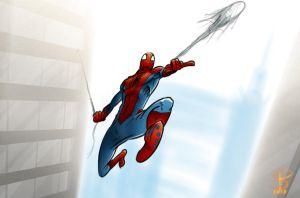 Daily sketch: Spidey by TheWizpir
