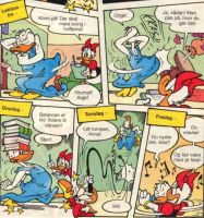 Donald Duck learns to shake HER tailfeathers 1 by Rabbette