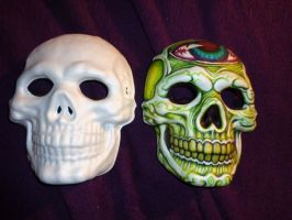 Skull Mask -Before and After 2 by Germanicus-Fink
