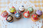 Adventure Time + Studio Ghibli character cupcakes by CraftCandies