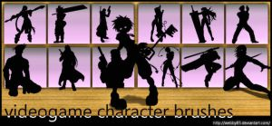 Videogame Characters brush set by webby85