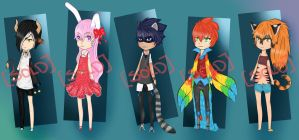 Kemonomimi Adoptables Auction [CLOSED] by litheruh