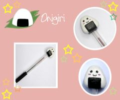 Onigiri stick pen by trisstesa17