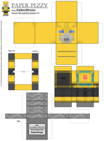 Paper Pezzy- Bumblebee 'Minecraft' by CyberDrone
