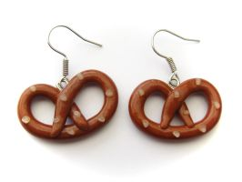 Pretzel Earrings by PumpkinDream