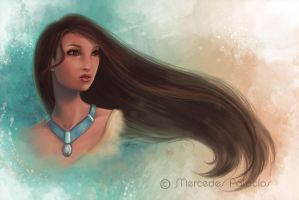 Pocahontas by eviaan-art