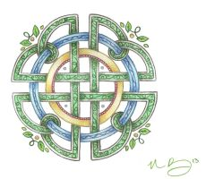 Sun, Sky, and Leaves Knotwork by Spiralpathdesigns