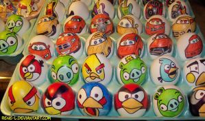 Angry Birds Easter Eggs by Rene L by Rene-L