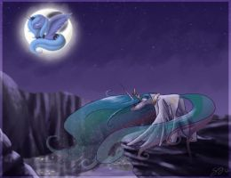 Mare in the moon + Project luna by Hingard