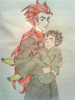 RJack and little RChase by bloodymaryartist