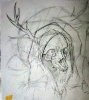 Deer Skull as Death Doodle by SuzanneMoseley