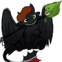 Toothless - I R An Artist by DannyPhantomAddict