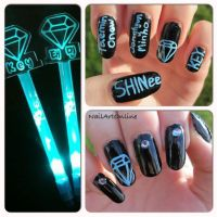 Kpop: SHINee nail art by NailArtOnline