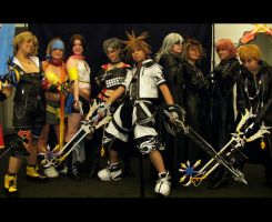 KHII and FFX-2 Cosplayers by K-tetsu