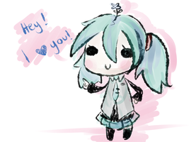 Vocaloid - Miku has something to say by RynSama