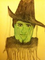 Elphaba Water Color by QueenoftheLemurs