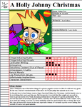 A Holly Johnny Christmas Notepage by johntheguy1