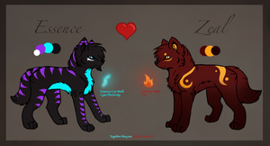 Essence and Zeal Reff sheet - Commission by Wolf-Alpha