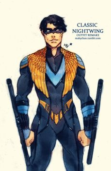 Classic Nightwing (outfit remake) by MabyMin