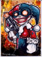 Harley Quinn Sketch Card Commission by dsilvabarred