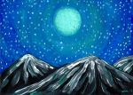 Moon Over Mountains by Mad-Willy