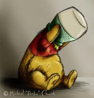 Color Pooh stuck by drakered