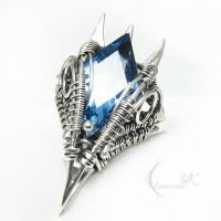 VILQTURH Silver and London Blue Quartz by LUNARIEEN