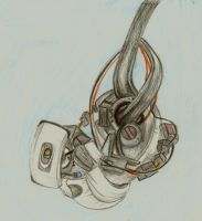 GLaDOS Sketch by AnnaNM