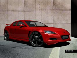 MY MAZDA RX8 Front View by palax
