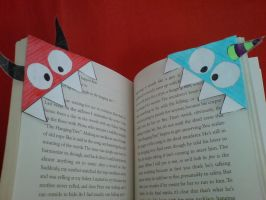 Ty and Taily Bookmarks by yarjor