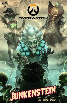 Overwatch comic 9 - Junkenstein by GrayShuko