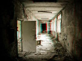 Abandoned School 3-D conversion by MVRamsey