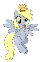 Derpy Muffin Vector (Featured on EQD) by artwork-tee