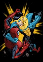 Invincible vs Spidey by Kalisto-ka