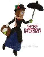 Mary Poppins ~ Crochet Amigurumi Doll. by MissyBaque