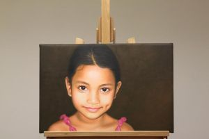 Micronesia Child Oil Painting by Oil-Gallery