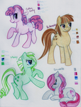 G1 Ponies Remixed by VertreV