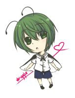 Touhou - Wriggle Chibi by on-a-leash