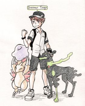 You are challenged by Pokemon Trainer Tiago! by Aohmin
