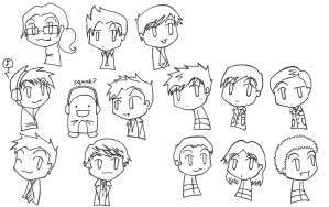 unfinished - Bunch o Chibis by dongpeiyen1000