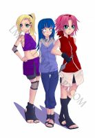 Naruto Girls by lmbeer